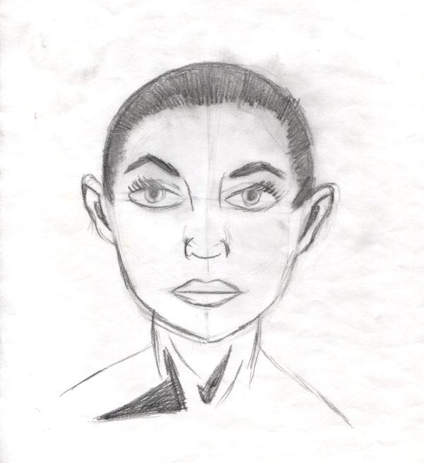 Frau (Kopf) - 2016