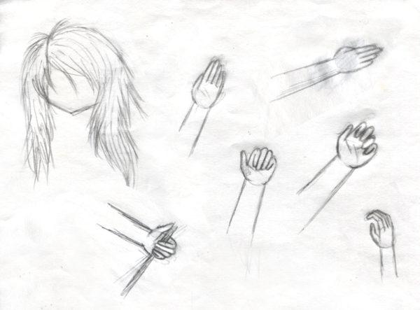 Skizzen Haar und Hände - 2016